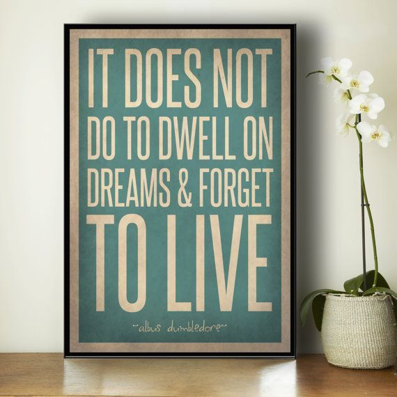 Harry Potter Quote Poster - Albus Dumbledore Quote - Home Decor - Boyu0027s Room Poster - & Harry Potter Quote Poster - Albus Dumbledore Quote - Home Decor ...