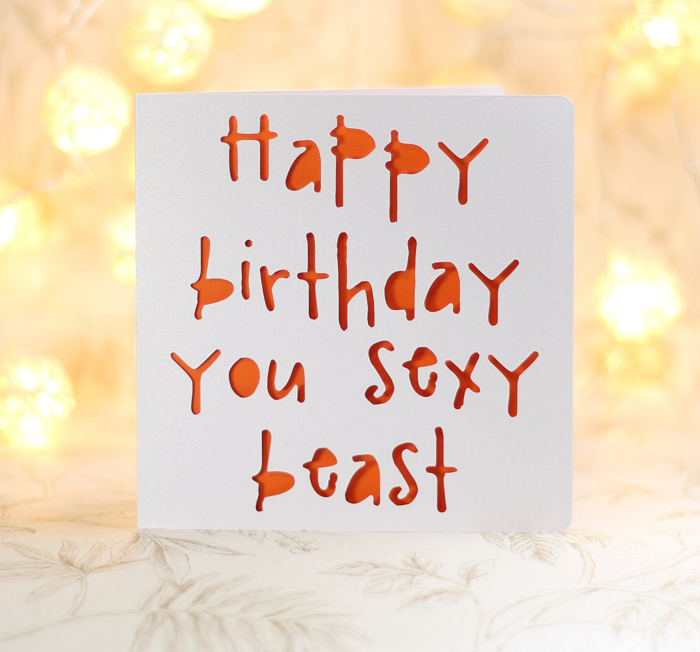 Happy Birthday You y Beast card for boyfriend for husband