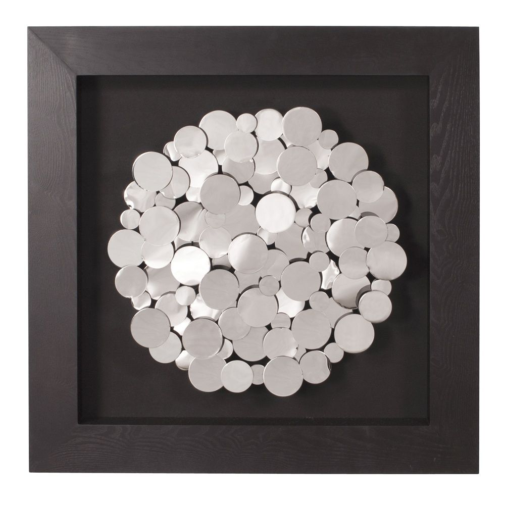 howard elliott collection  chrome coins mounted on black frame  - howard elliott collection  chrome coins mounted on black frame square wallart