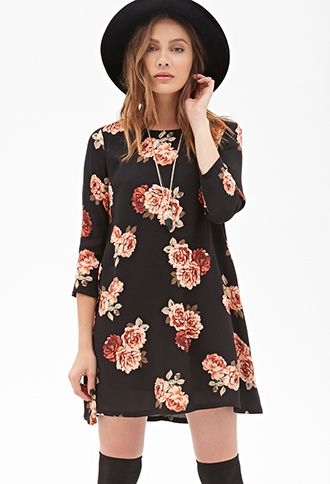 Langarm kleid rose