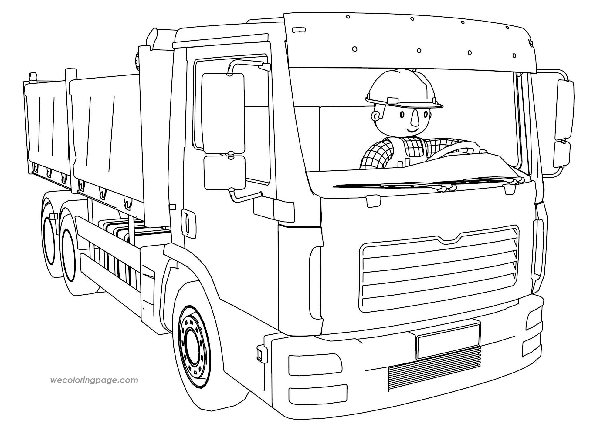 Bob-The-Builder-Driving-Truck-Coloring-Page | Pinterest | Bobs