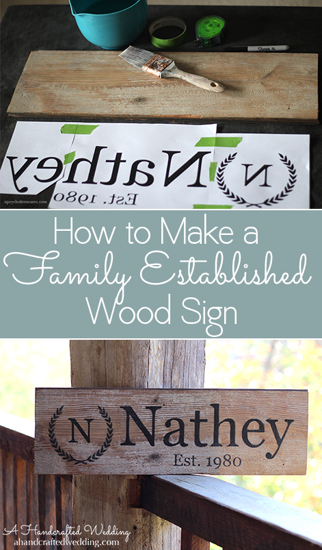 How To Make A Family Established Sign A Super Easy Diy Wood Sign That You Can Make For Yourself Or G Diy Wood Signs Established Family Signs Diy Wedding Gifts