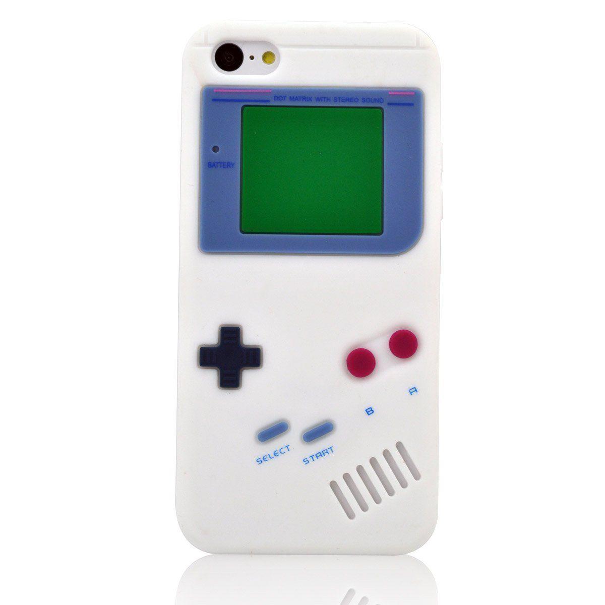 Amazon.com: My8 White Iphone 5C Cover Retro Design Game