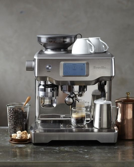 Breville Oracle Touch Espresso Machine Use The Touchscreen To Select From A Menu Of 5 Cafe Drinks Espresso Americano Espresso Espresso Machine Coffee Shop