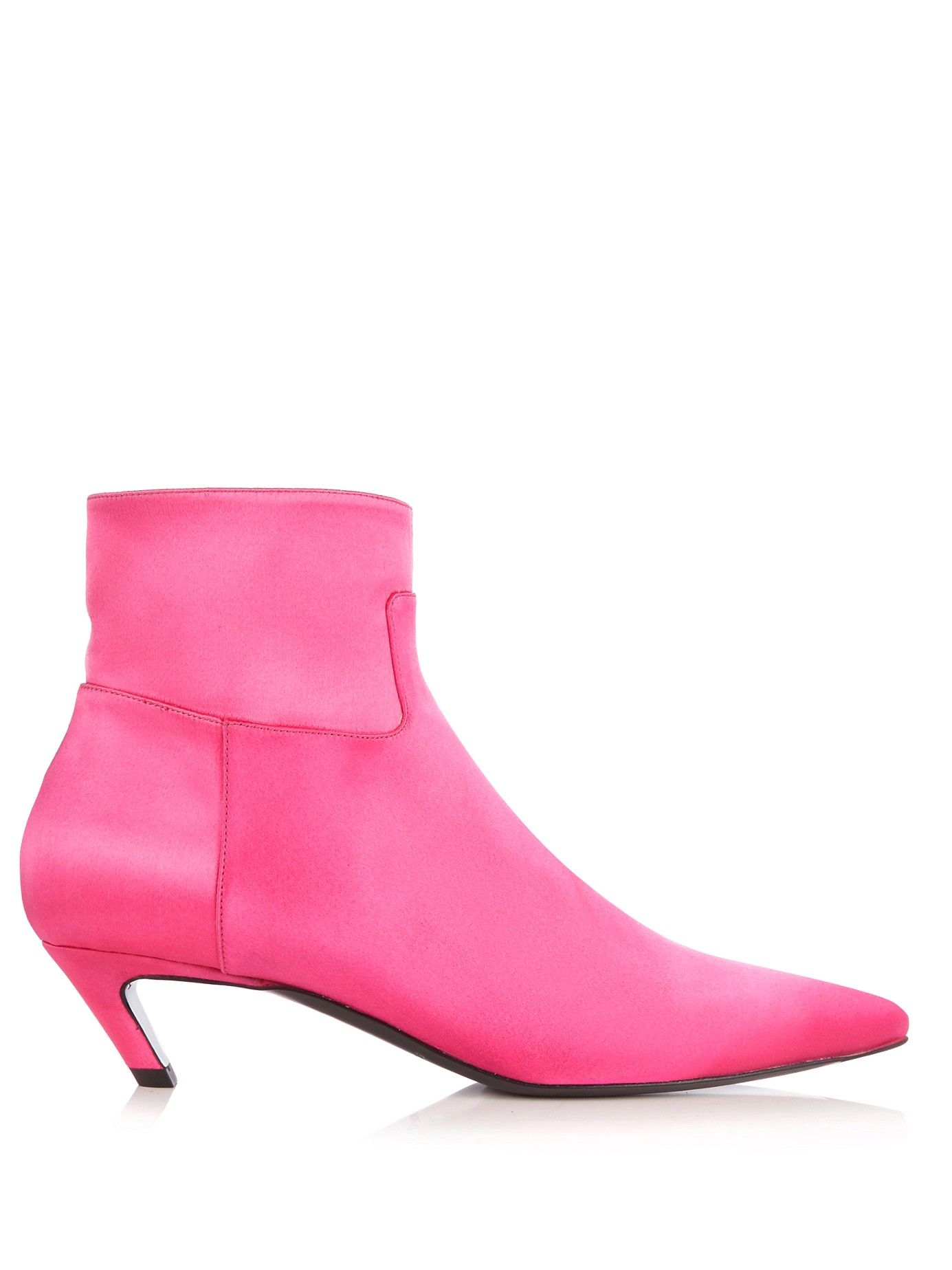 Slant-heel satin ankle boot | Balenciaga | MATCHESFASHION.COM US