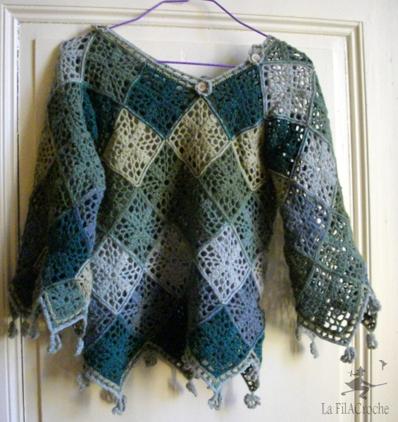 Crochet Granny Square Sweater Pattern : Best 25+ Granny square sweater ideas on Pinterest ...