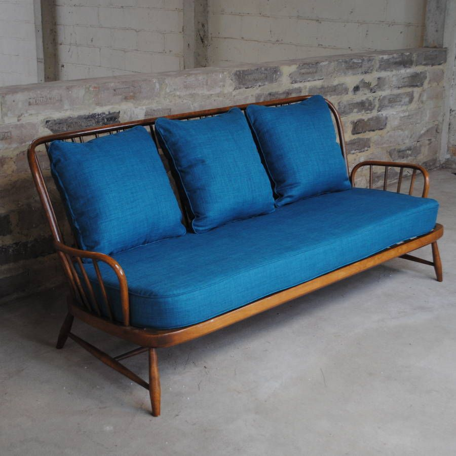 Antique Ercol Sofa: Vintage Ercol Jubilee Sofa In Teal