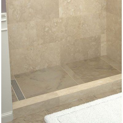 Tile Redi Plank Pitch Single Threshold Shower Base With Drain