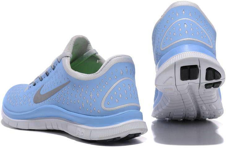 buy popular c2d45 62af1 Womens Nike Free 3.0 V4 SkyBlue Silver Shoes