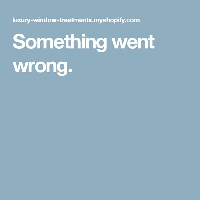 Something went wrong.