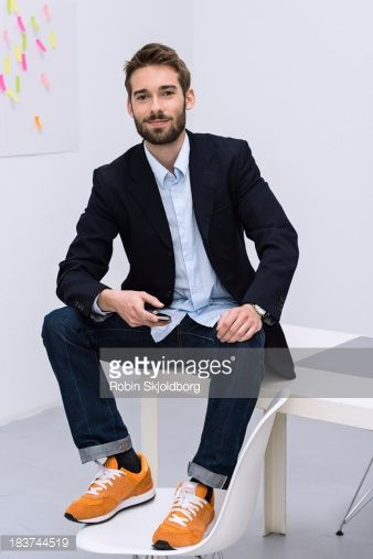 Stock-Foto : Portrait of young male in design studio