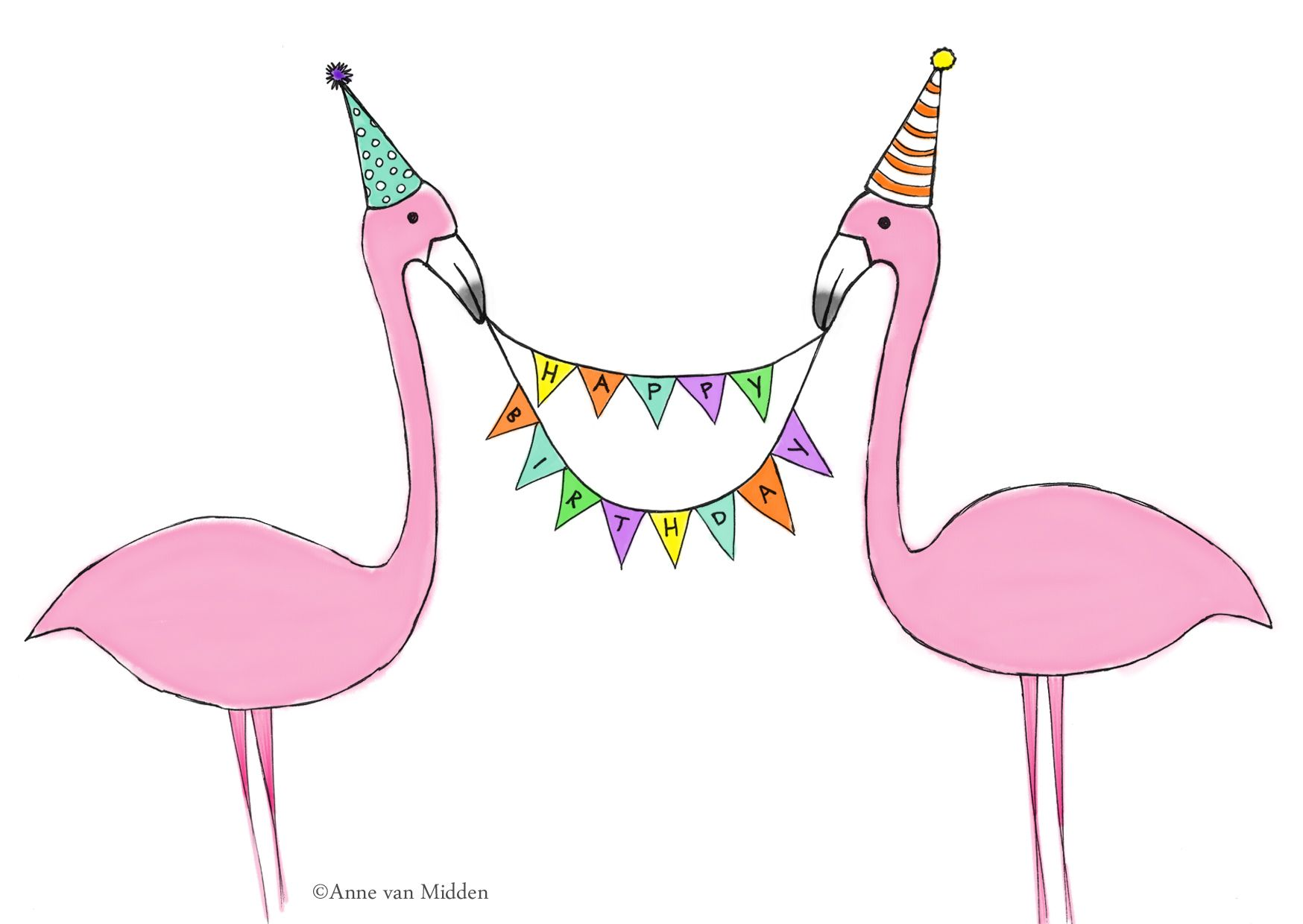 Картинки, картинка с днем рождения фламинго