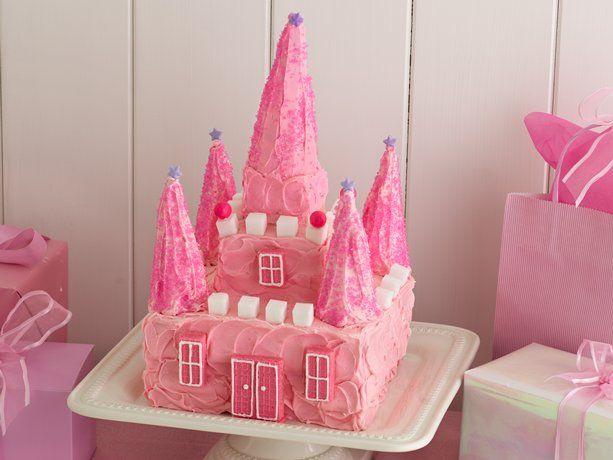 Excellent Princess Castle Cake Recipe With Images Princess Castle Cake Birthday Cards Printable Inklcafe Filternl