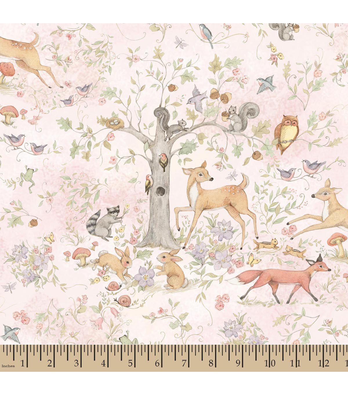 Nursery Fabric Susan Winget Woodland Buddies Master Scenic