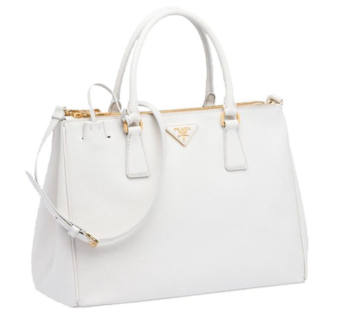 Prada In White Designer Hand Bags Fashion