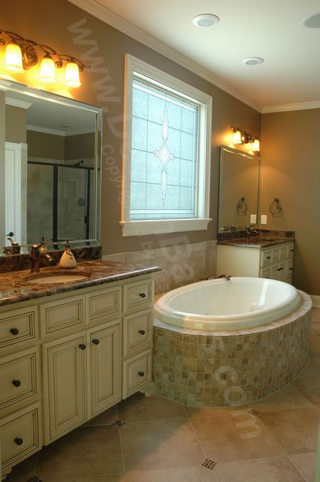 Home Plan 29098 | Master Bath. Plenty of natural light without the ...