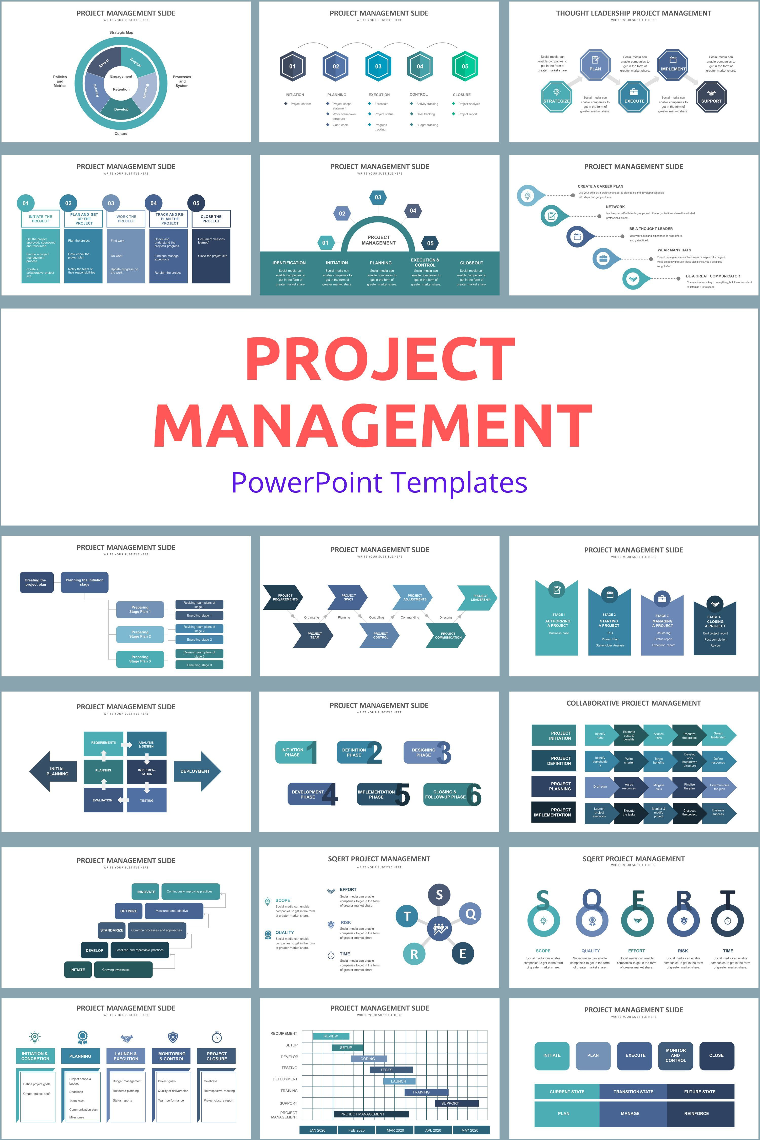 Project Management PowerPoint Templates 20 best design infographic templates