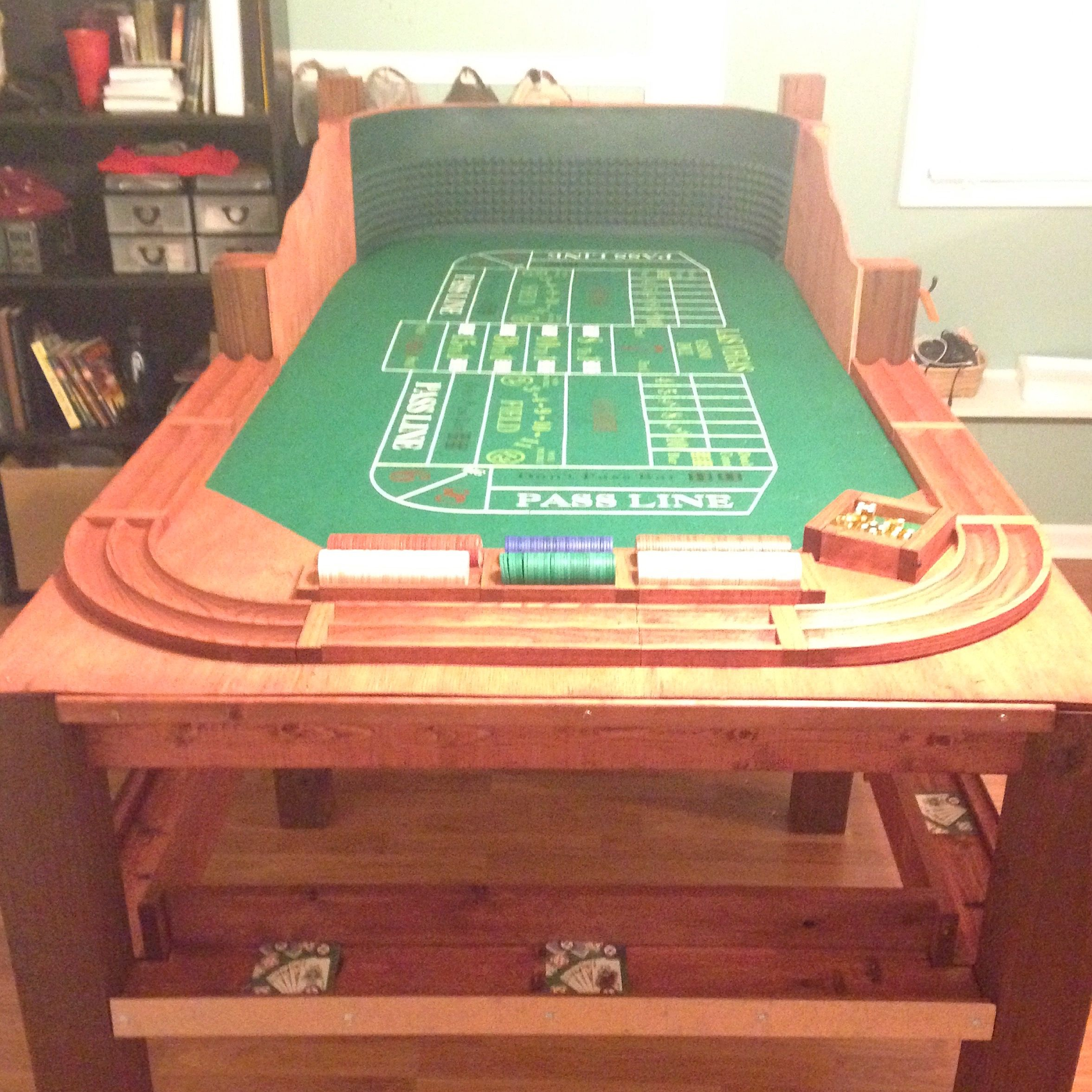 Wooden roulette buy black wooden roulette blackjack table led - Homemade Craps Table Get Your Game On