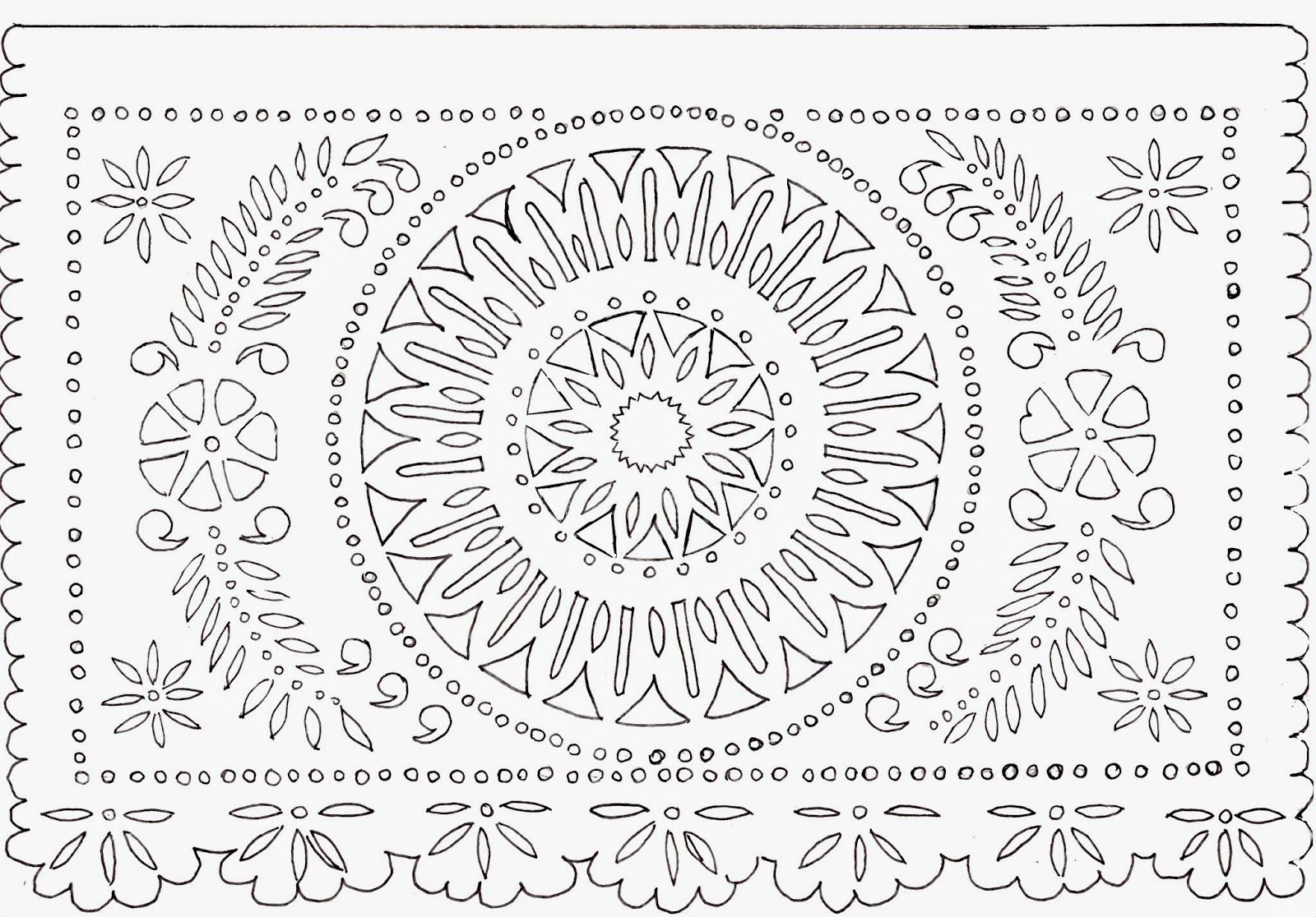 Introducing new worlds with a shrug make this papel for Papel picado template for kids