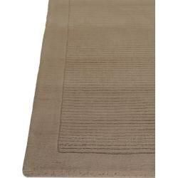 Photo of benuta Wollteppich Uni Taupe 80×150 cm – Naturfaserteppich aus Wolle benuta