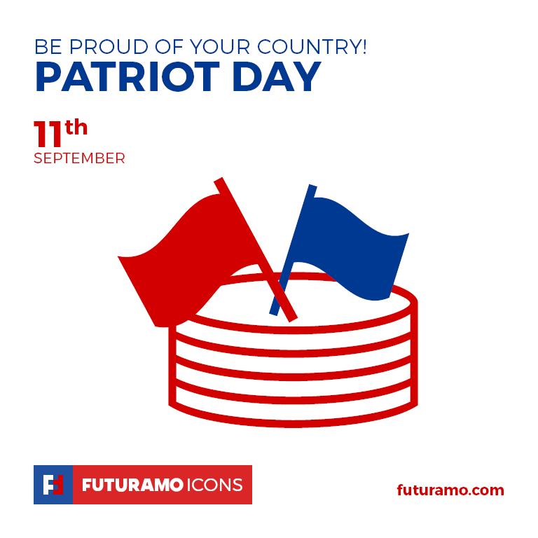 Be proud of Your Country! Patriot Day. All icons used in the series are available in our App. Imagine what YOU could create with them! Check out our FUTURAMO ICONS – a perfect tool for designers & developers on futuramo.com #futuramo #futuramoapps #futuramoicons #futuramocalendar #icondesign #icons #iconsystem #freeicons #pixel #pixels #pixelperfect #flatdesign #ux #ui #uidesign #design #developer #developers #webdesign #app #appdesign