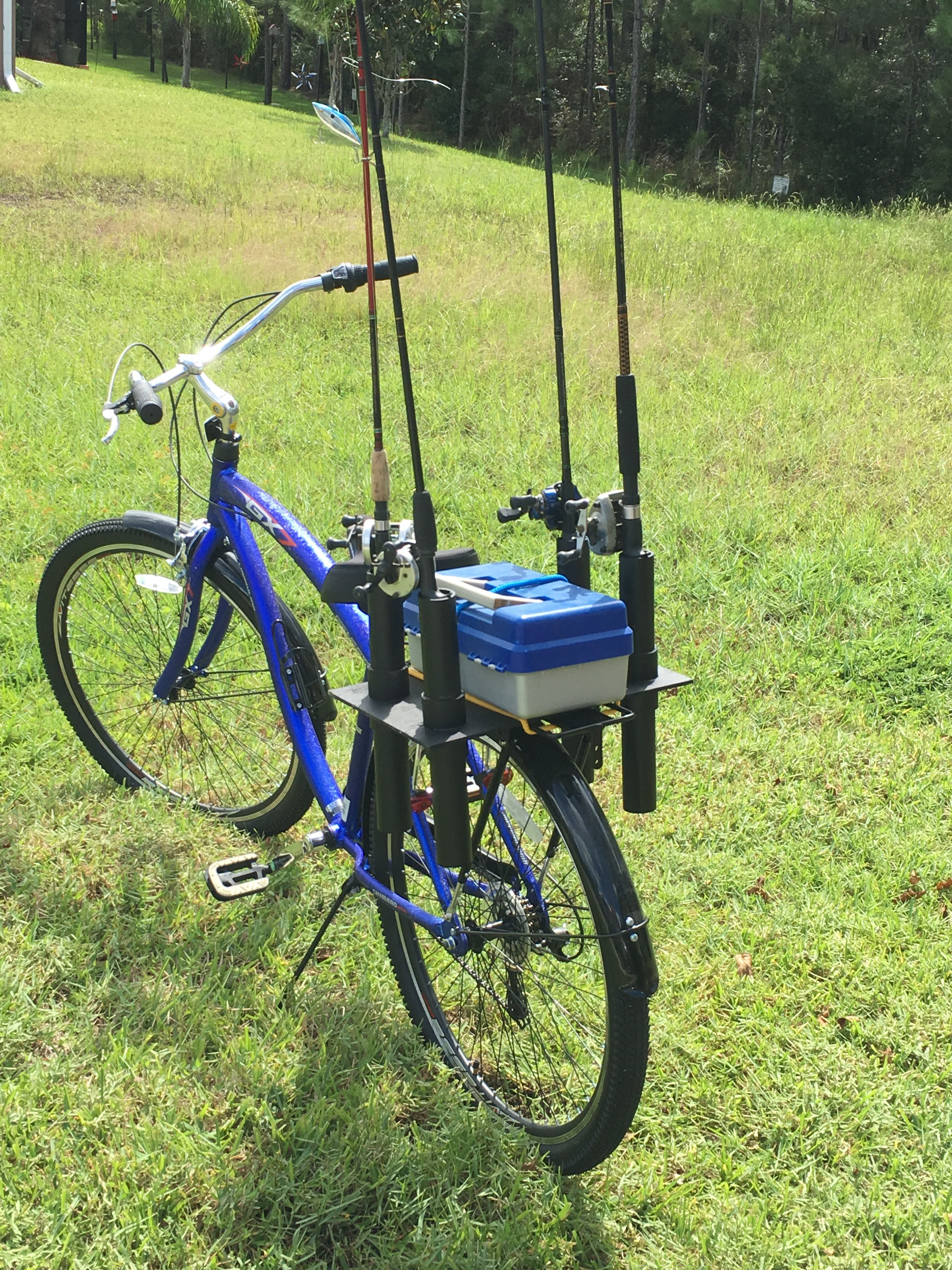 Tow Hitch Bike Rack >> DIY rack for rod and reels and tackle box I made for my ...
