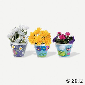 Design Your Own Flowerpots, Design Your Own, Craft Kits & Projects, Craft & Hobby Supplies - Oriental Trading