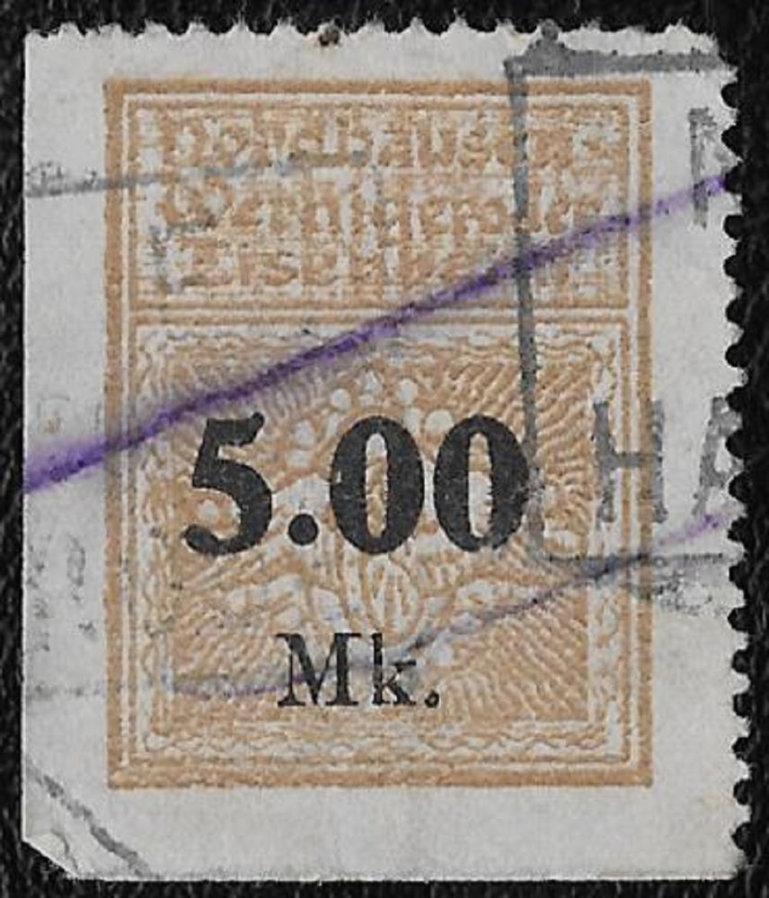 + 1905 Nordhausen-Wernigerode Eisenbahn NWE 5,00M Germany Railway Train Parcel