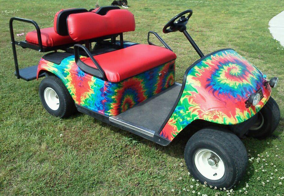 Tie Dye Flame Golfcargraphics Com Golf Car Car Wrap Toy Car