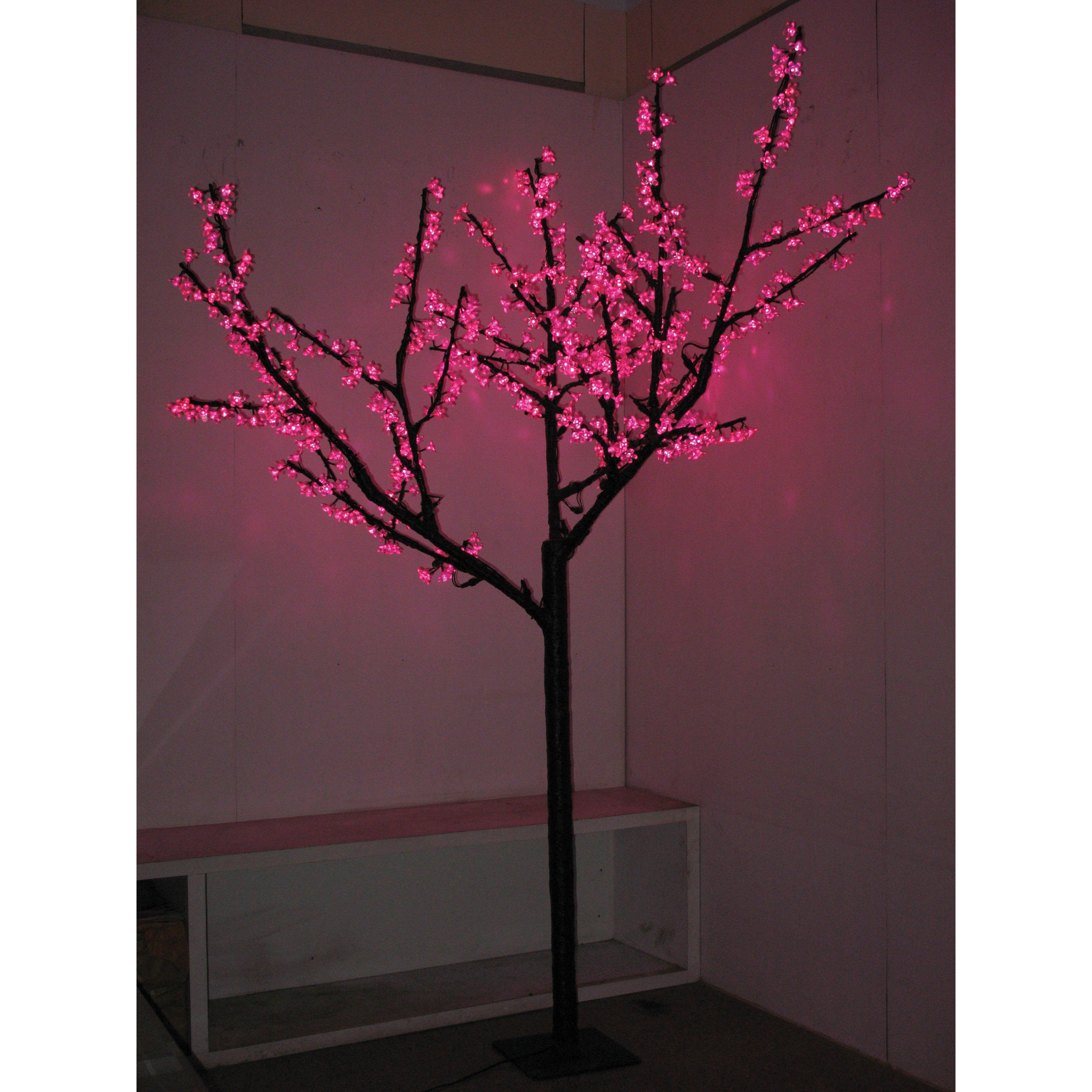 8 Ft Pre Lit Led Cherry Blossom Tree Pink 629 99 Cherry Blossom Bedroom Contemporary Holiday Decor Cherry Blossom Tree