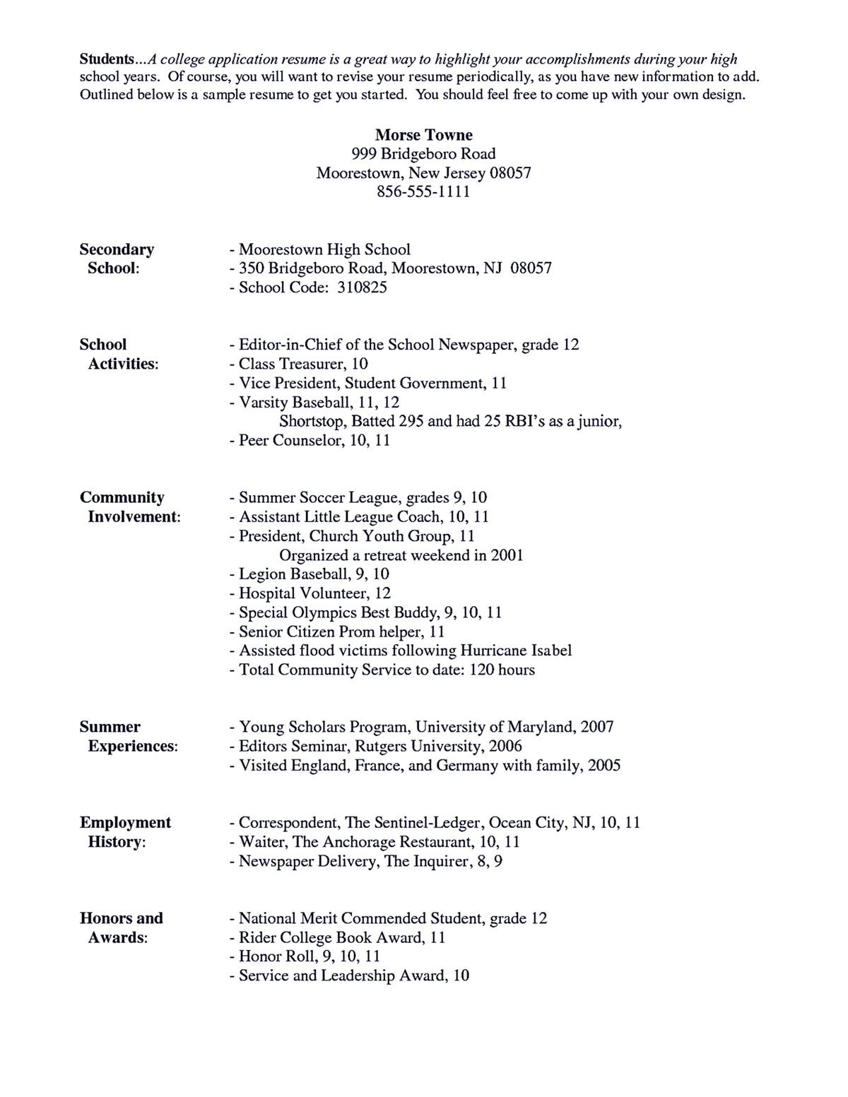 Academic Resume Sample Academic Resume Sample Academic Resume Sample Shows You How To