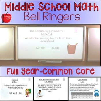 Math bell ringers bell work full year with answer key math ideas math bell ringers bell work full year with answer key fandeluxe Choice Image