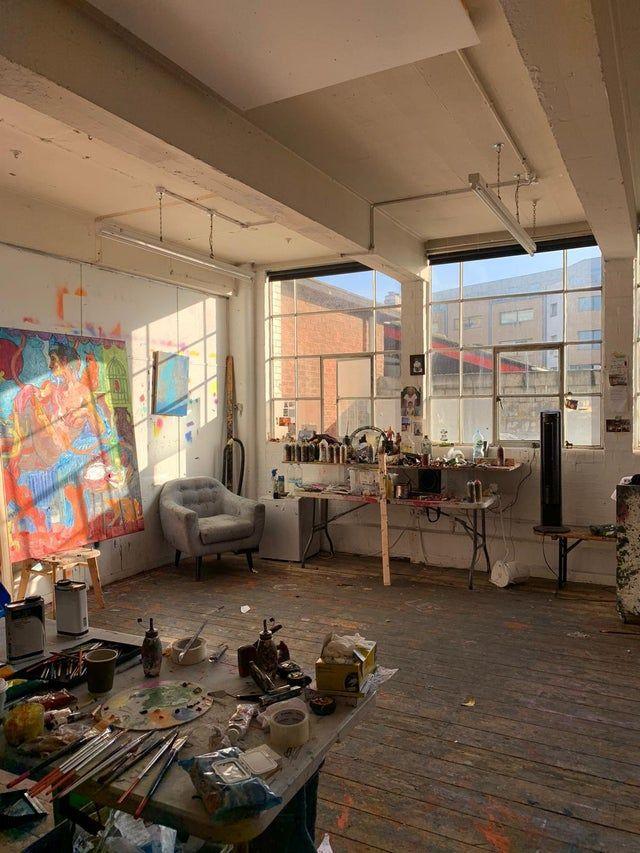 My sunny London art studio