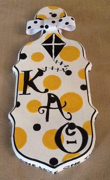 Kappa Alpha Theta Paddle | Greek | Sorority paddles, Kappa