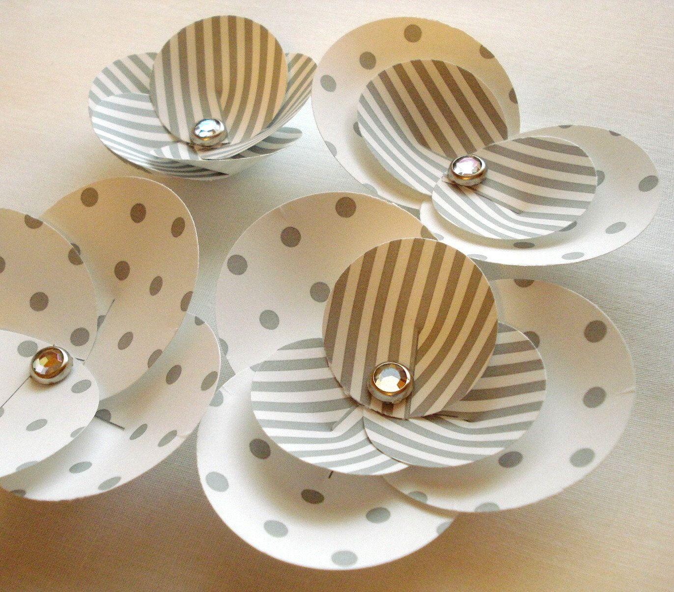 Printable DIY Elegant Paper Flowers  Petal Circle Templates