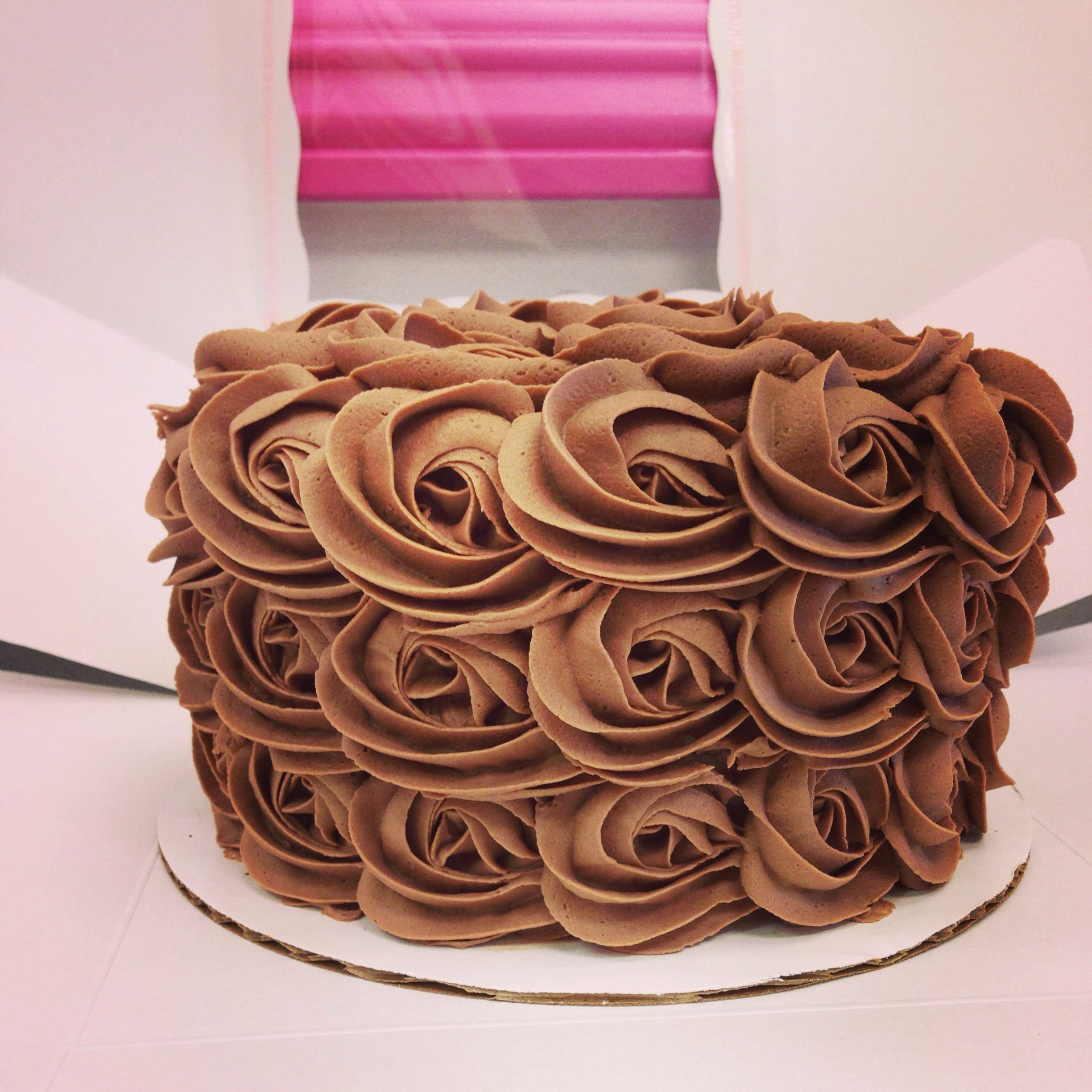 Teddy Rosette Cake - Chocolate cake layers filled with homemade ...