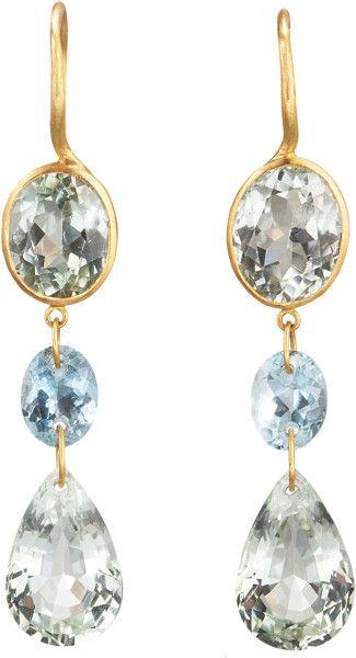 Marie-hélène De Taillac Blue Sapphire Kite Earrings in Gold