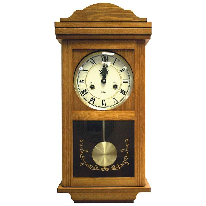 Kassel 15 Day Oak Wall Clock Hhwwcoak 70 00 Eshopping4less Quility Poducts At Wholesale Prices Pendulum Clock Clock Wall Clock