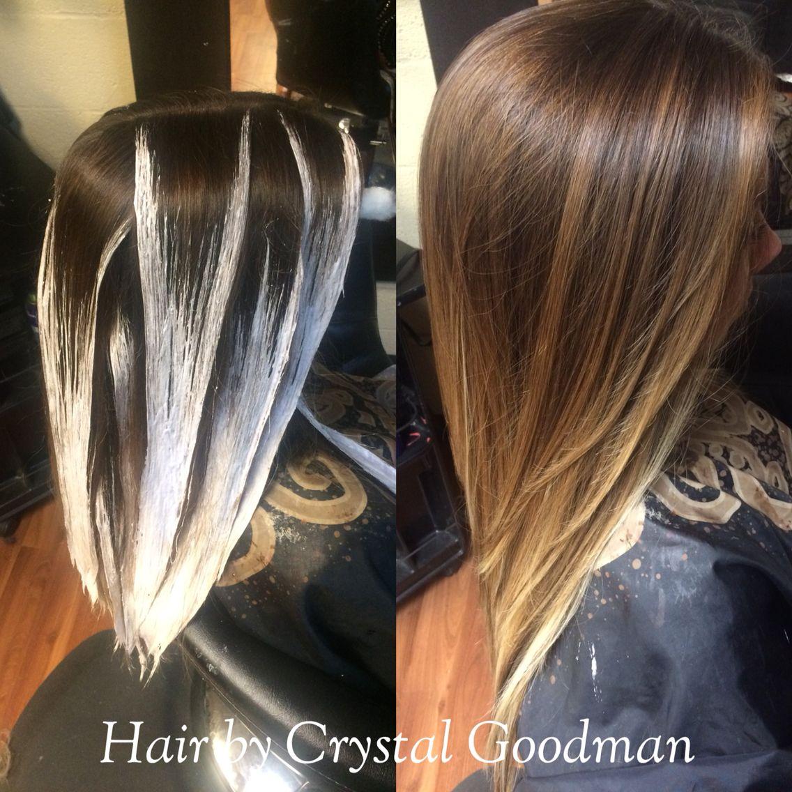 Hand Painted Balayage Hair Matrix Long Hair Ombre Hair By Crystal Goodman Hair Color Techniques Long Hair Styles Balayage Hair