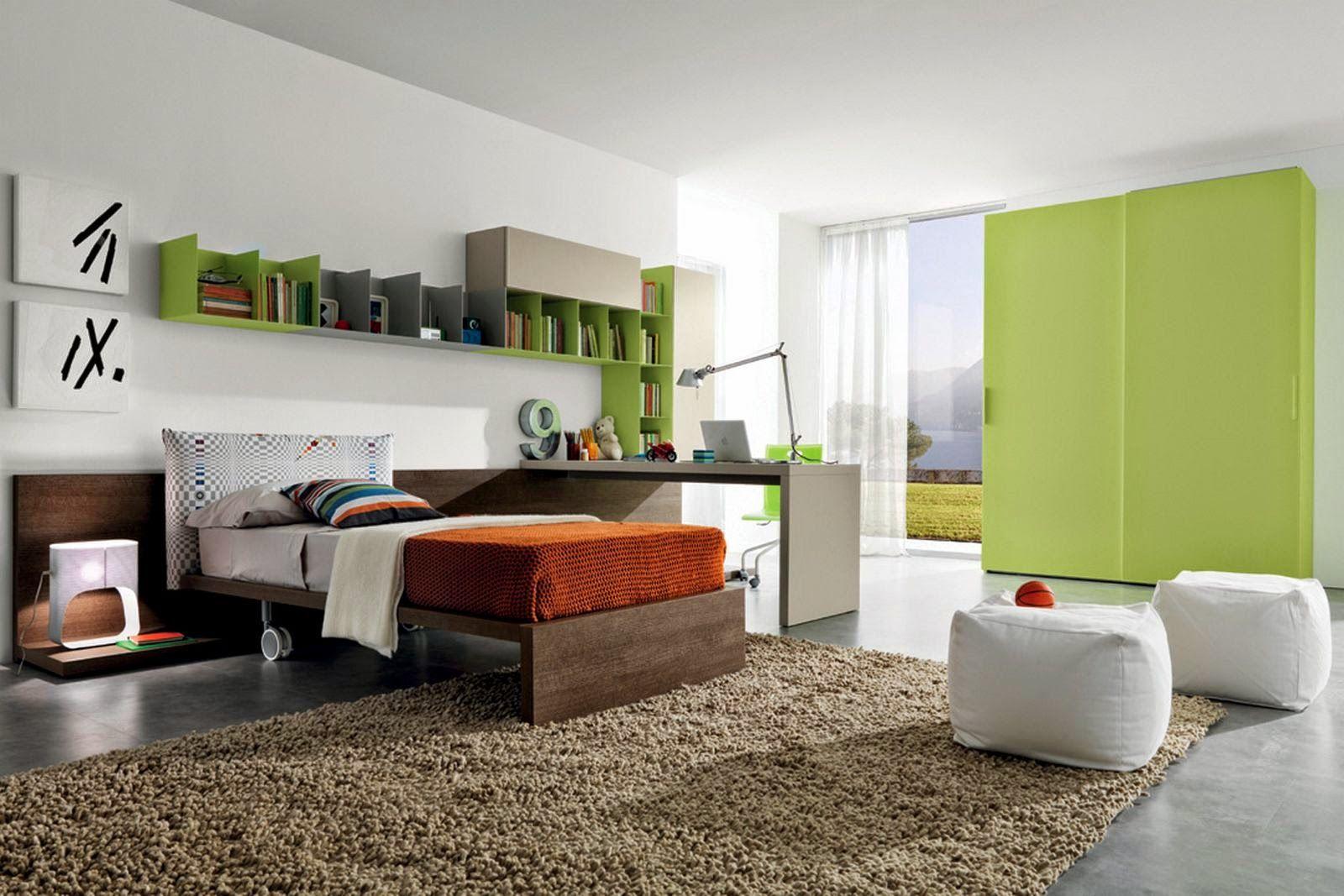 style moderne chambre coucher pour enfant garon - Decoration Chambre A Coucher Garcon