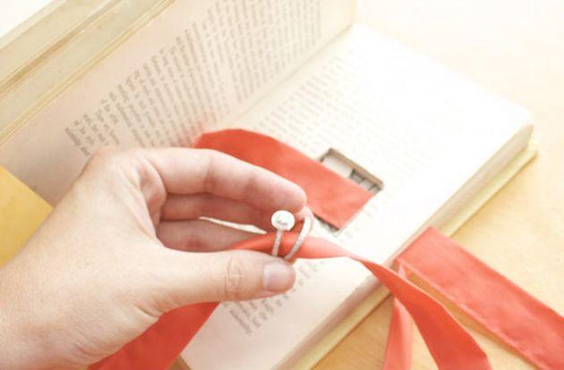 Mariage DIY : le livre porte-alliance