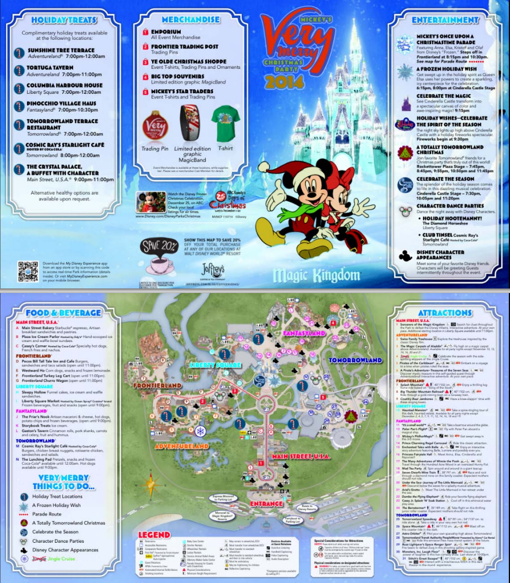 Mickeys Very Merry Christmas Party 2018 Map.All About The Holidays At Disney World Disney World O