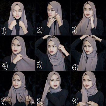 Tutorial Memakai Hijab Pashmina Sabyan Dengan Gambar Casual