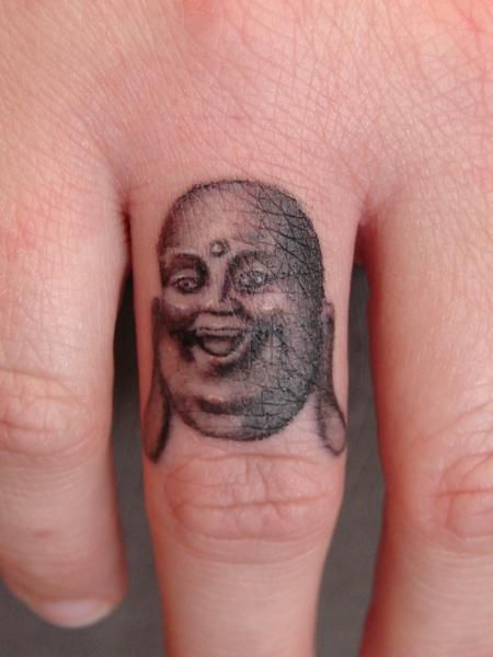 Laughing Buddha Portrait On Finger To Get This Much Detail On A