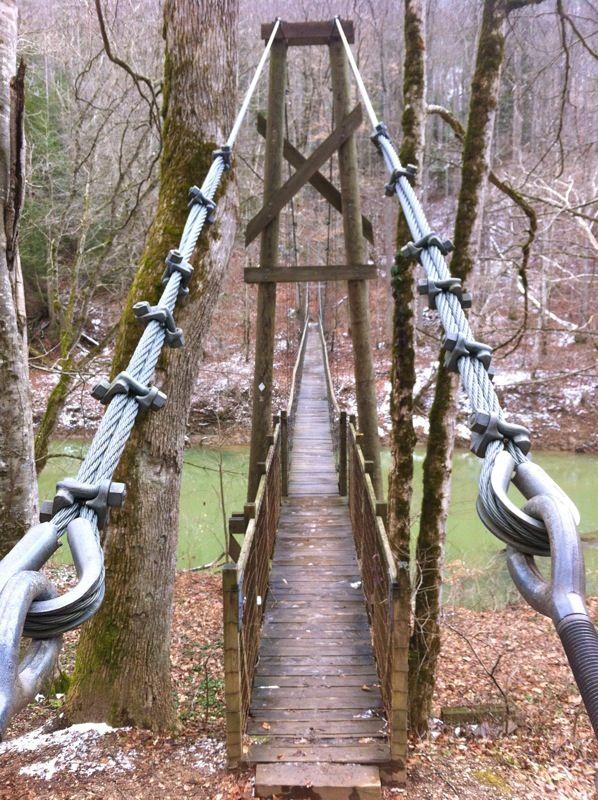 Sheltowee Bridge In Daniel Boone National Forest Kentucky