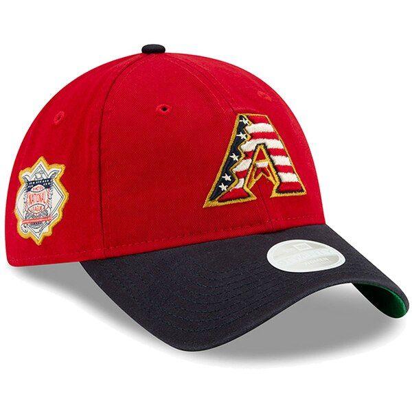 new arrivals 6c502 d224a Women s Arizona Diamondbacks New Era Red 2019 Stars   Stripes 4th of July  9TWENTY Adjustable Hat