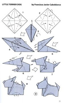 neat little origami dog bravo francisco javier caboblanco rh pinterest com origami dog diagram origami dog instructions pdf