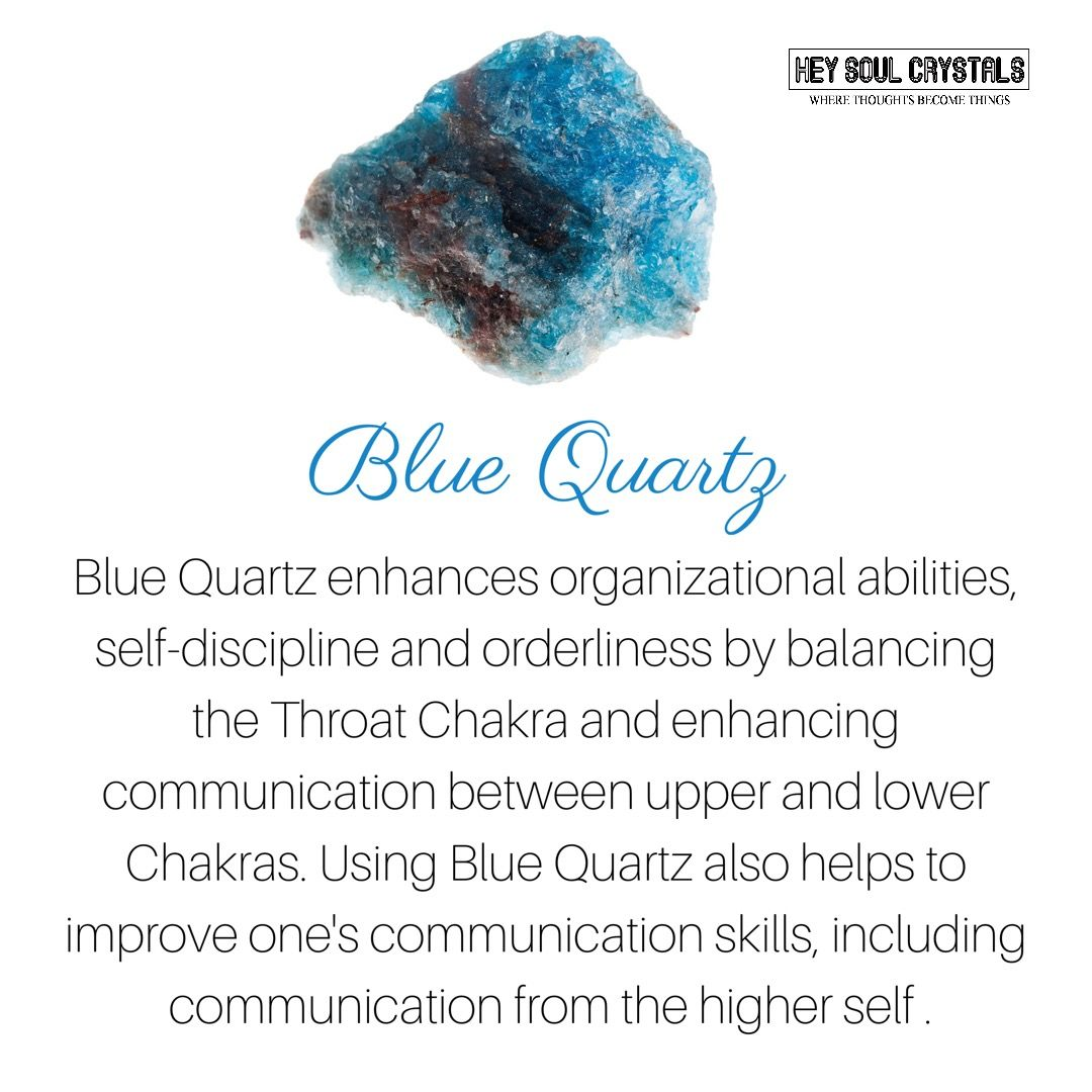 Blue Quartz Crystal Meaning Crystalmeanings Crystal Meanings And