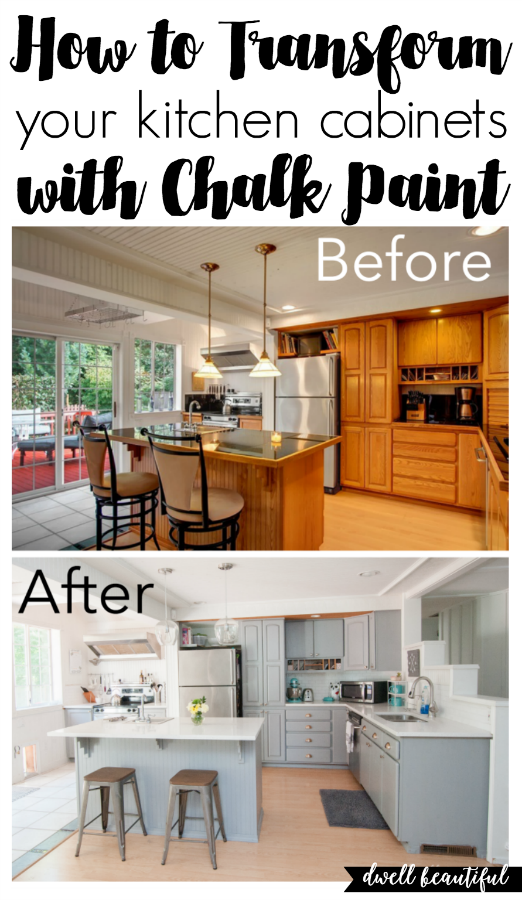 how to paint your kitchen cabinets with chalk paint rehab it rh pinterest com Annie Sloan Chalk Paint Ideas Chalk Paint Kitchen Cabinets Before and After