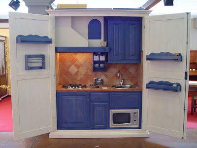 BOISERIE & C.: La cucina nell\'armadio   Cucina muratura   Pinterest